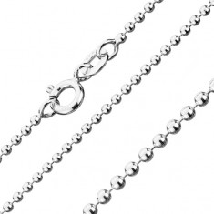 Chain made of 925 silver, army beads, width 1,5 mm, length 550 mm