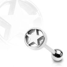Star in a circle tongue ring
