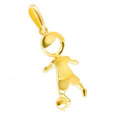 9K Golden shiny pendant – a footballer with a ball