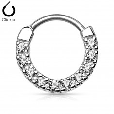 Steel nose piercing – clear colour zircons