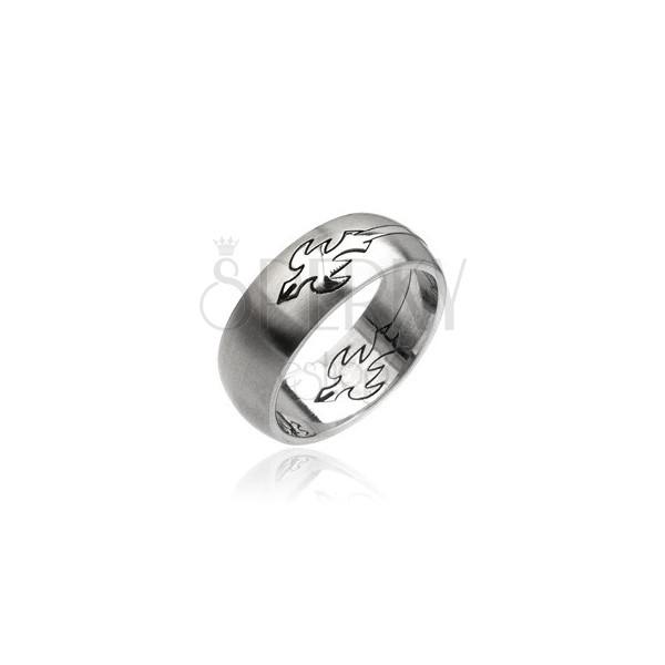 Stainless steel ring - flying eagle