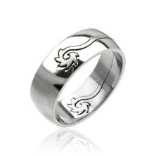 Stainless steel ring - curled disc