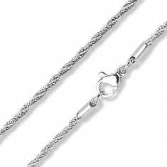 Chain made of 316L steel – spirally connected links, width 1,5 mm