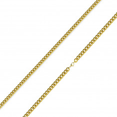 Chain made of 316L steel – twisted round links of a golden colour, 2 mm