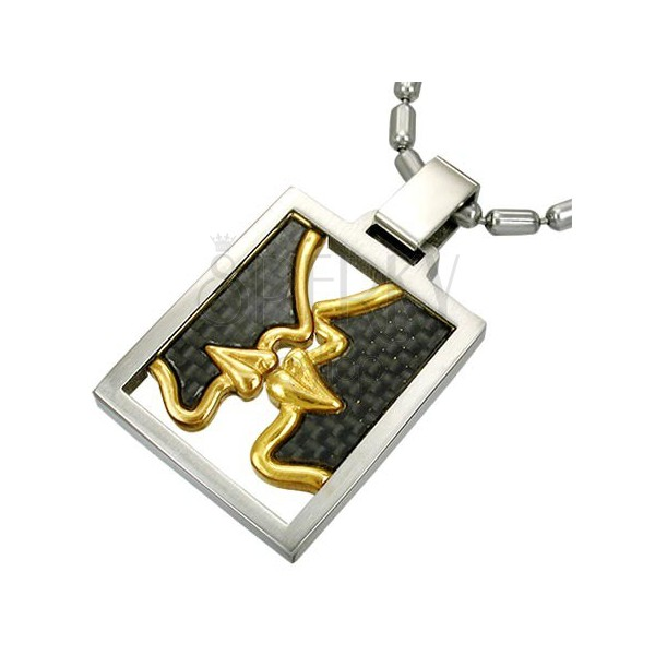 Surgical steel FIRST KISS pendant