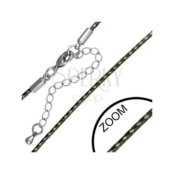 Brown-gold string - braided vinyl cord