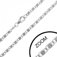 3 mm steel chain with embellished links