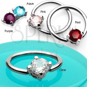 Body ring with square zircon