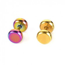 Colourful stainless steel tragus piercing