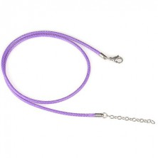 Violet string necklace - tangled