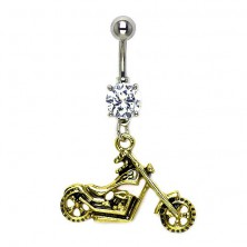 Navel ring - Chopper in gold and silver colour