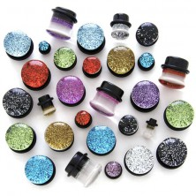 Ear plug - transparent with glitters