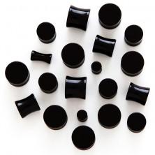 Ear plug - black glossy cylinder