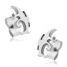 Stainless steel earrings - tribal motive