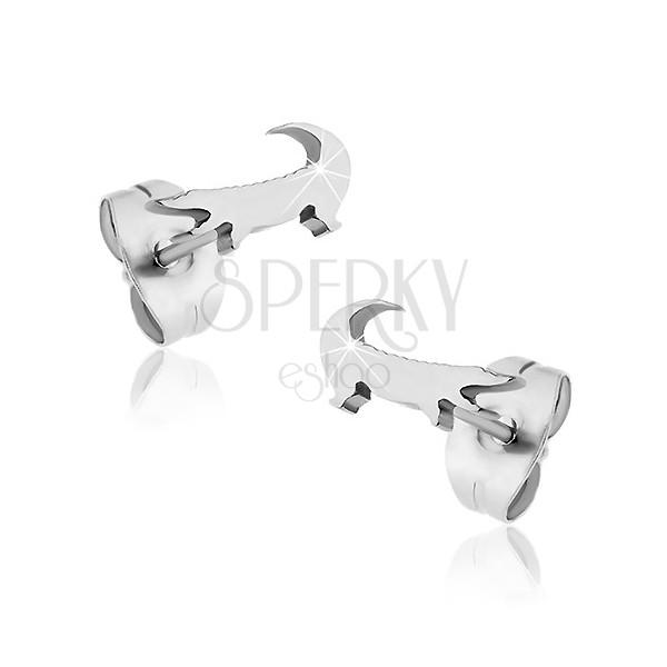 Surgical steel earrings - small crocodile