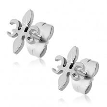 Surgical steel stud earrings - Fleur De Lis