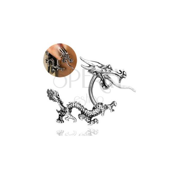 Ear piercing - Chinese fiery dragon