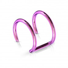 Fake ear piercing of 316L steel - anodized double circle