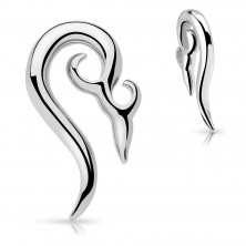 Stainless steel ear piercing - ornamental spiral