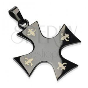 Black stainless steel cross pendant