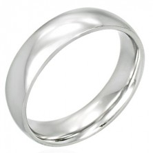 Stainless steel band - shiny and rounded, 6 mm