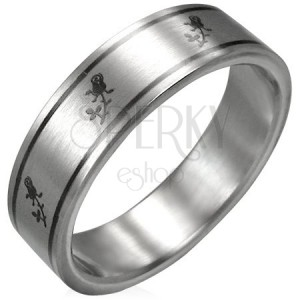 Stainless steel ring - rose