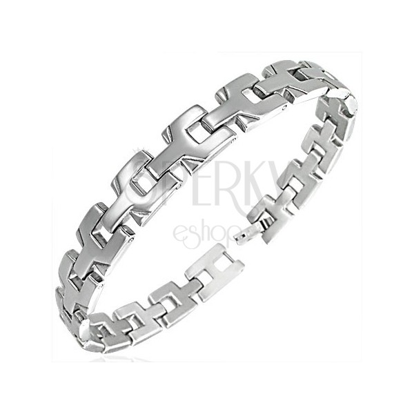 Ladies surgical steel bracelet - connected Y - letters