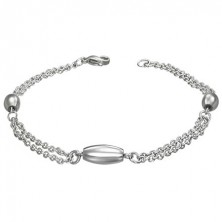 Surgical steel wrist chain with oval elements