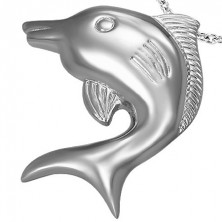 Big stainless steel dolphin pendant