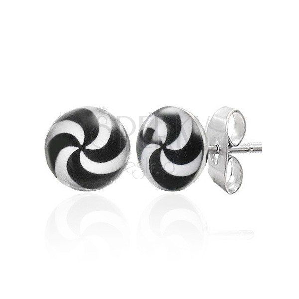 Hypno stud earrings made of steel